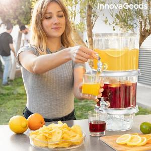 Distribuitor dublu de bauturi cu compartiment de gheata si tava pentru gustari