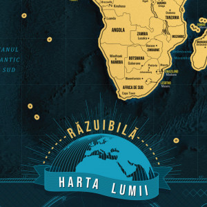 Harta razuibila a lumii DeLuxe XL - Varianta Romaneasca