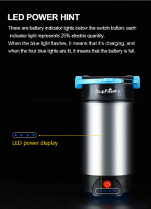 Lanterna pentru Camping 800 Lm cu incarcare USB si PowerBank