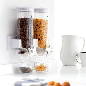Distribuitor de cereale de perete dublu