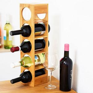 Cadru modular bambus pentru sticle de vin