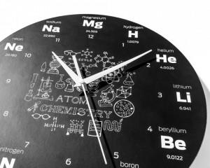 Ceas de perete Atomium Chemistry