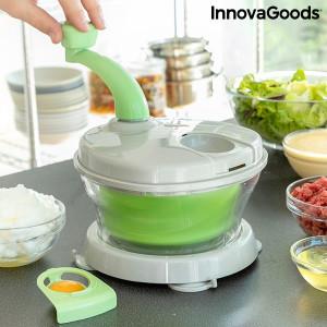 Chopix Mixer, centrifuga si tocator manual 4 in 1 cu accesorii si carte de retete