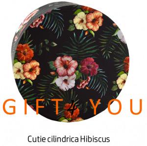 Cutie cadou rotunda - Hibiscus