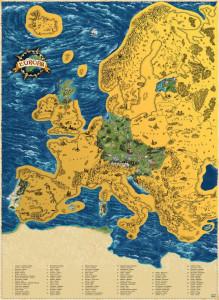 Harta razuibila a Europei DeLuxe XL