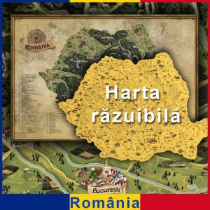Harta razuibila a Romaniei DeLuxe XL