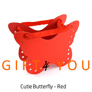 Cutie cadou Butterfly - Red