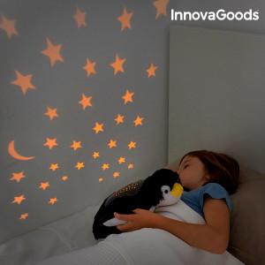 Pinguin de plus cu Proiector LED
