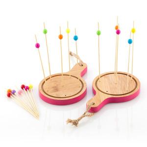 Set din bambus pentru servire aperitive TakeTokio 16 piese