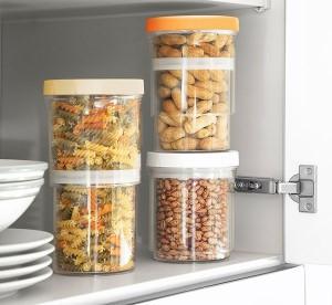 Set 3 recipiente cu inaltime reglabila si inchidere ermetica pentru alimente InnovaGoods
