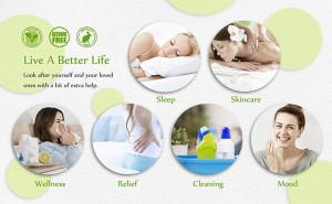 Gift Set Aromatherapy - 6 uleiuri esentiale aromaterapie in cutie cadou eleganta