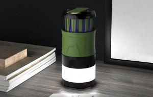 Lanterna pentru Camping anti tantari retractabila cu incarcare USB si PowerBank