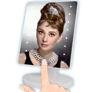 Oglinda tactila cu led pentru machiaj