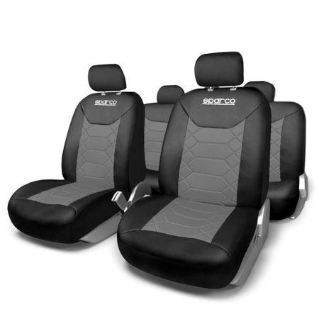 Huse Scaune Auto Sparco Sport gri - negru 11 buc