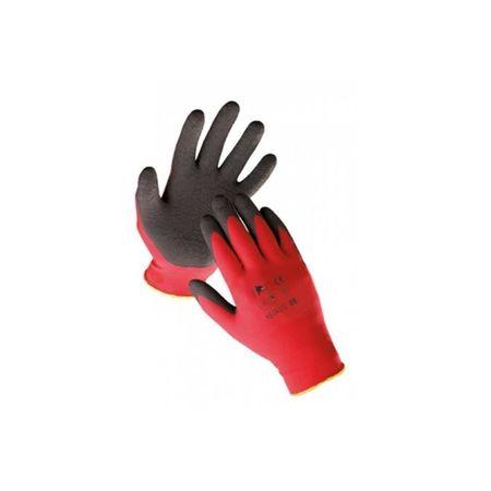 Manusi cu pelicula din latex rosu-negru HS-04-012 mar.10