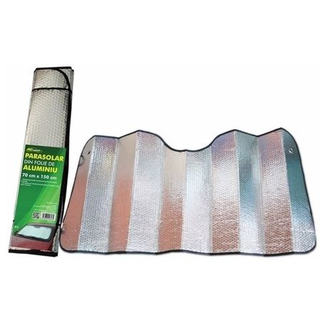 Parasolar folie aluminiu 2 fete RoGroup, 70 cm x 150 cm