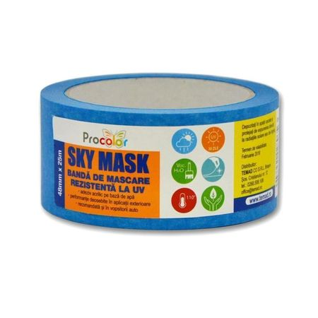 PROCOLOR Banda de mascare SKY MASK rezistenta la UV 48mmx25m