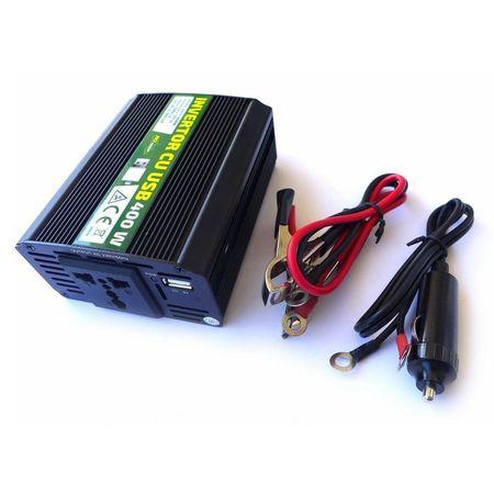 Invertor cu USB 400W RoGroup, 12V-220V