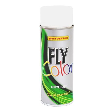 DUPLICOLOR Fly Color alb lucios RAL 9010 - 400ml cod 400604