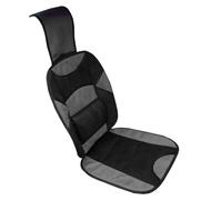 Husa scaun auto cu tetiera si suport lombar RoGroup, microfibra, negru-gri