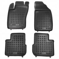 Covorase Presuri Auto Negru din Cauciuc pentru Fiat TIPO Sedan (2015-)