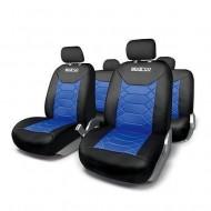Huse Scaune Auto Sparco Sport albastru - negru 11 buc