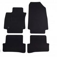 Set 4 covorase auto din mocheta, negru, pentru pentru RENAULT Clio 11/2012 5-Tourer, Clio Grand Tour 04/2013-