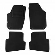 Set 4 covorase auto din mocheta, negru, pentru pentru SKODA Fabia II 11/2007-10/201-
