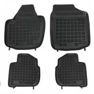 Covorase Presuri Auto Negru din Cauciuc SEAT Toledo 2013-; pentru SKODA Rapid 2012-, Rapid Spaceback