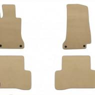 Set 4 covorase auto din mocheta, bej, pentru pentru MERCEDES C-Klasse (W205) 03/2014, T-Modell (S205) 09/2014-