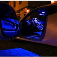 Set 4 lampi cu leduri albastre ambientale auto