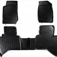 Covorase Presuri Auto din Cauciuc pentru Isuzu D - MAX II (2011-up) Negru
