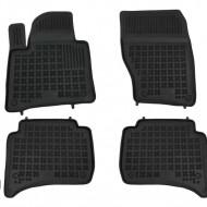 Covorase Presuri Auto Negru din Cauciuc pentru PORSCHE Cayenne II (2011-2016) pentru VW Touareg II (2010-2018)