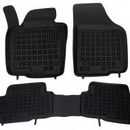 Covorase Presuri Auto Negru din Cauciuc pentru VW Sharan II (5 locuri) 2010-, SEAT Alhambra (5 locuri) 2010-