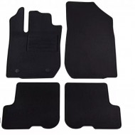 Set 4 covorase auto din mocheta, negru, pentru pentru DACIA Sandero II 11/2012, Sandero II Stepway 11/2012-