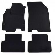Set 4 covorase auto din mocheta, negru, pentru pentru RENAULT Fluence 10/2010-