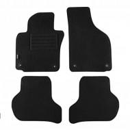 Set 4 covorase auto din mocheta, negru, pentru pentru SKODA Octavia II Limousine 01/2008-01/2013, Kombi 01/2008-04/2013-