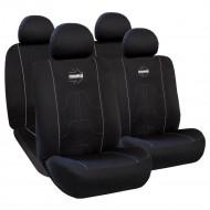 Huse scaune auto Momo Negru-Gri, pentru bancheta rabatabila, 11 bucati
