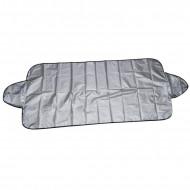 Parasolar auto Ro Group, exterior, iarna/ vara, material textil, argintiu cu negru, 200cm x 120cm
