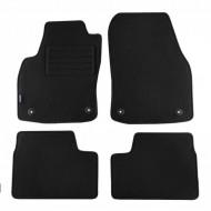 Set 4 covorase auto din mocheta, negru, pentru pentru OPEL Astra H 2004-10/2009, Astra H Caravan 09/2004-10/2010, Astra H GTC 03/2005-10/2011-