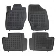 Covorase Presuri Auto Negru din Cauciuc CITROEN C4 I Hatchback 2004-2010, C4 II 2011-; pentru PEUGEOT 307 2001-2007