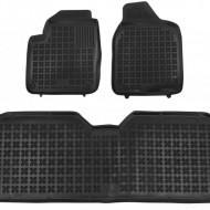 Covorase Presuri Auto Negru din Cauciuc pentru Ford GALAXY I (1995-2006) Seat Alhambra I (1996-2010) VW Sharan I (1995-2010) versiune 5 pasageri