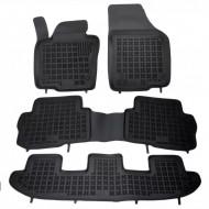 Covorase Presuri Auto Negru din Cauciuc Seat Alhambra, pentru VW Sharan II (7 locuri) 2010-