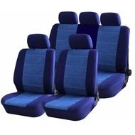 Huse scaune auto Blue Jeans, cu fermoare pentru bancheta rabatabila, 9 Bucati