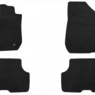 Set 4 covorase auto din mocheta, negru, pentru pentru DACIA Logan MCV 07/2013-
