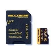 Card micro SD 64GB U3 cu adaptor Nextbase NBDVRS2SD64GBU3