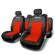 Huse Scaune Auto Sparco Sport rosu - negru 11 buc