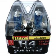 Set 2 becuri auto cu halogen Pilot H4 Super White, 12V, 60/55W, P45t
