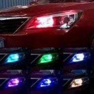 Set 2 LED-uri multicolore pentru faruri