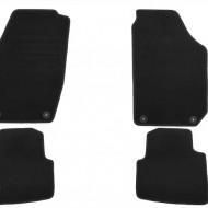Set 4 covorase auto din mocheta, negru, pentru pentru SKODA Roomster 03/2008-